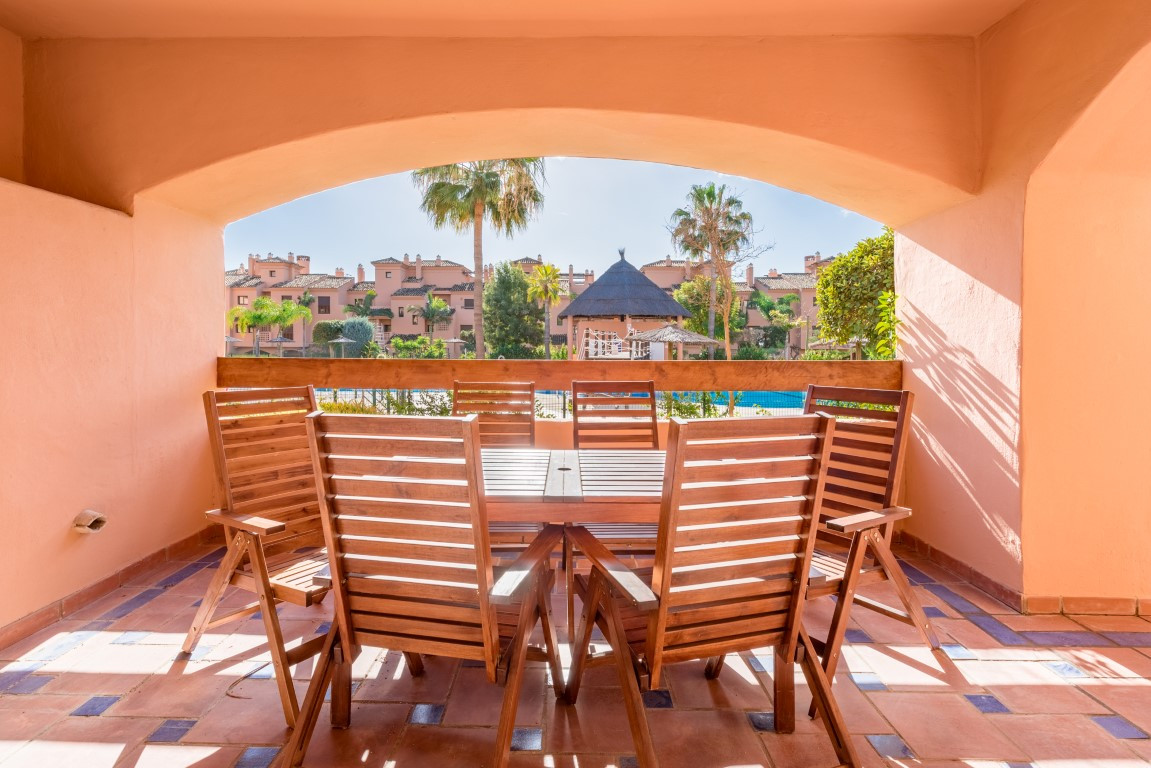 A two bedroom ground floor apartment south facing overlooking the swimming pool in the popular holid,Spain