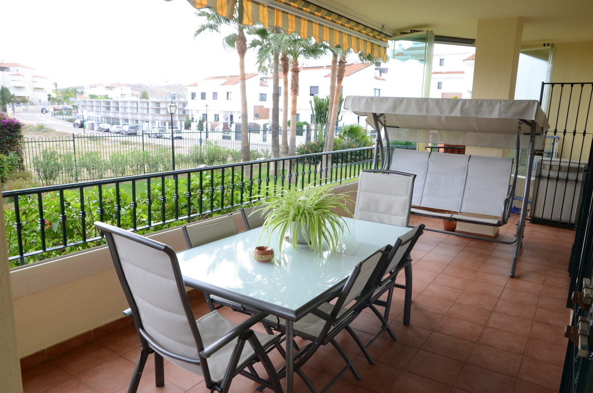 Immaculate and elevated ground floor flat, with large south facing terrace. The property is in excel, Spain