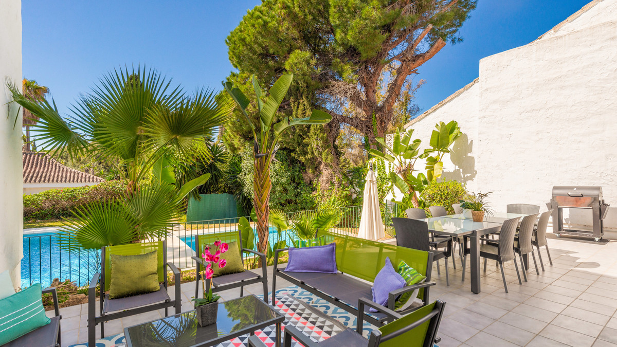 Beachside villa (sleeps 8) only minutes from Puerto Banus, in a gated urbanisation close to the sea.,Spain