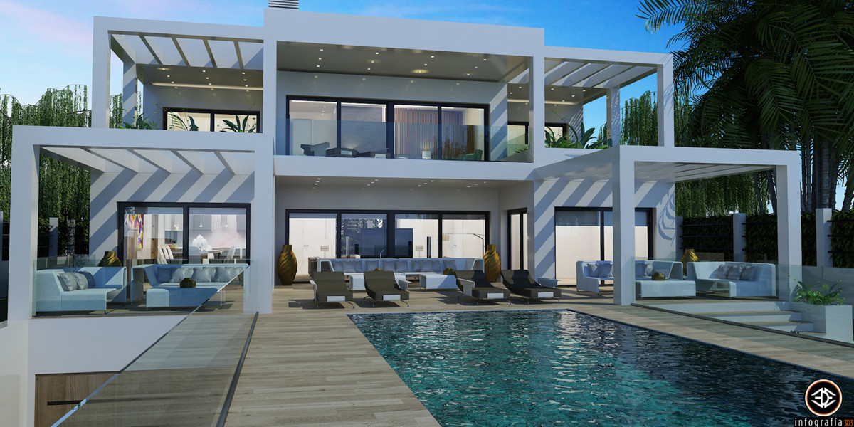 SECOND LINE BEACH VILLA FOR SALE IN ELVIRIA UNDER CONSTRUCTION - Located in a lovely corner of the e, Spain
