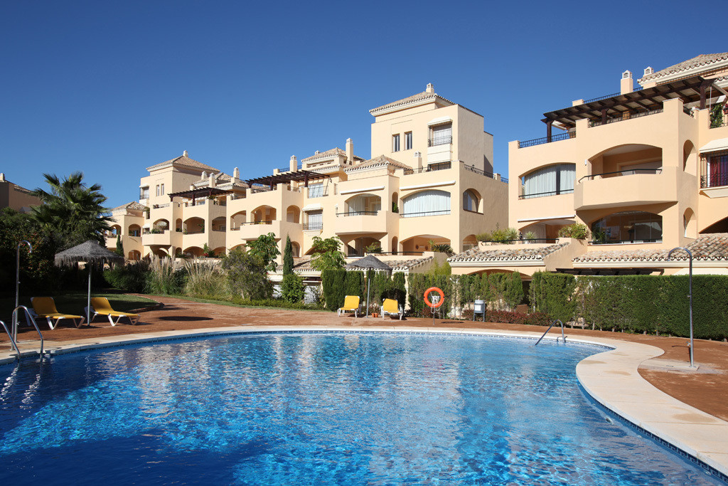 This luxury apartment in the sough-after Hacienda Elviria estate is facing to South enjoying a lot o,Spain