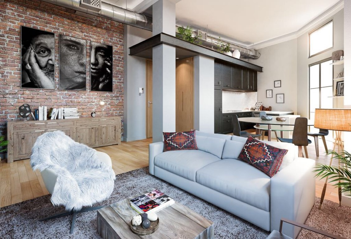 Apartment with the best location in old town of Malaga. Industrial design and high ceilings. Fully e,Spain