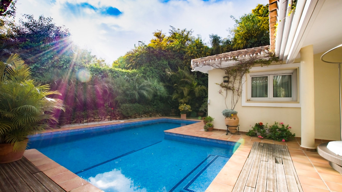 Detached Villa, Elviria, Costa del Sol.  The house is located 10 meters from the sea Beautiful garde,Spain