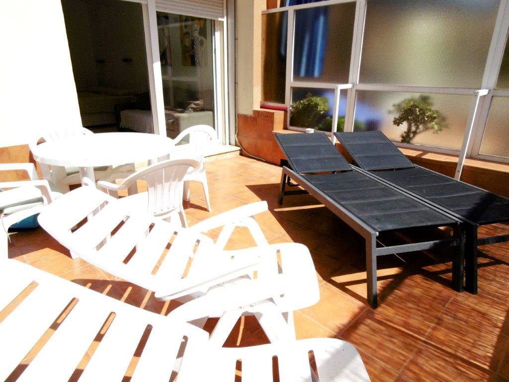 Completely renovated west facing studio with a large terrace in a front line complex.  The property ,Spain