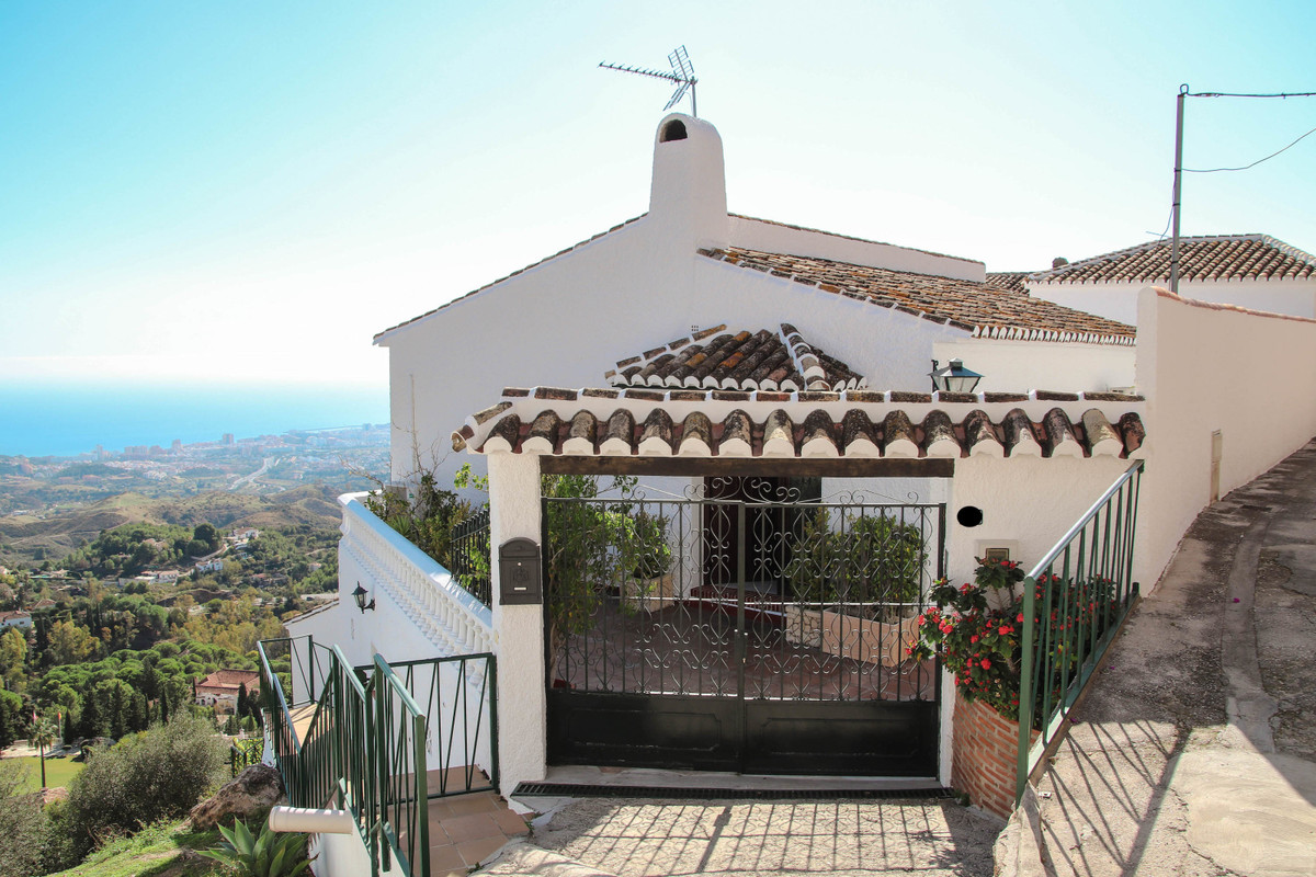 House situated in quiet area at the border of Mijas Pueblo, with the most amazing panoramic sea view,Spain