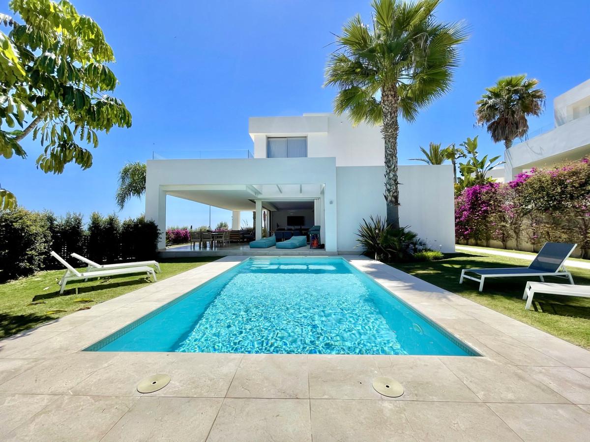Fantastic villa with breathtaking  sea views in La Finca de Marbella close to Rio Real Golf Club.   ,Spain