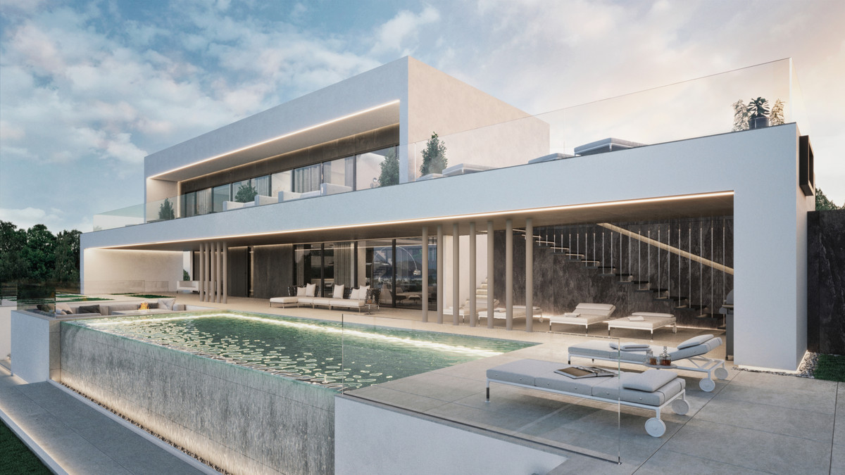 Project description  The contemporary style villa designed by architect Roman Chalyy with straight a, Spain