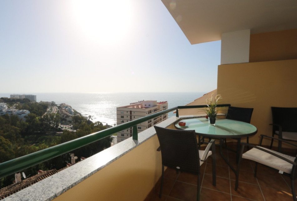 Modern and bright duplex in Benalmadena, Costa del Sol with nice view to the golf courses and sea Th, Spain