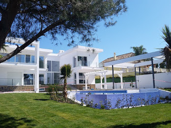 Newly built, Modern 3 levels villa with a large swimming pool and lush gardens, built with the highe, Spain