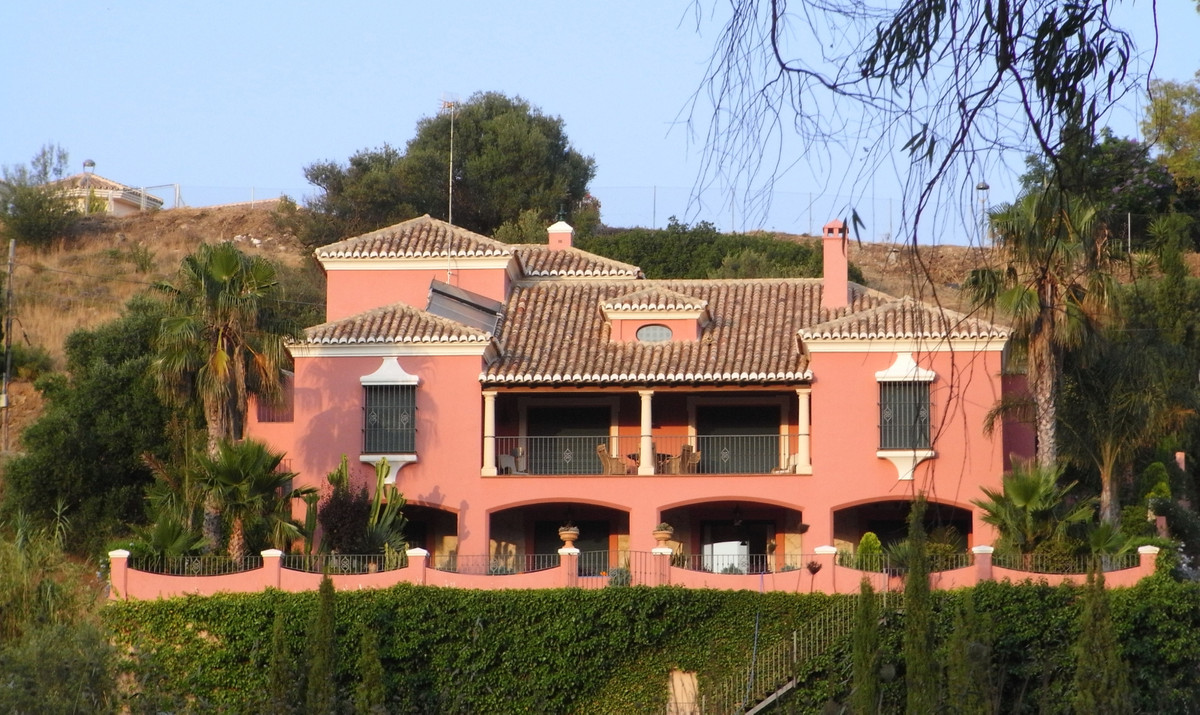 Elegant detached villa front-line Mijas Golf. This west faced villa offers stunning views over the g,Spain