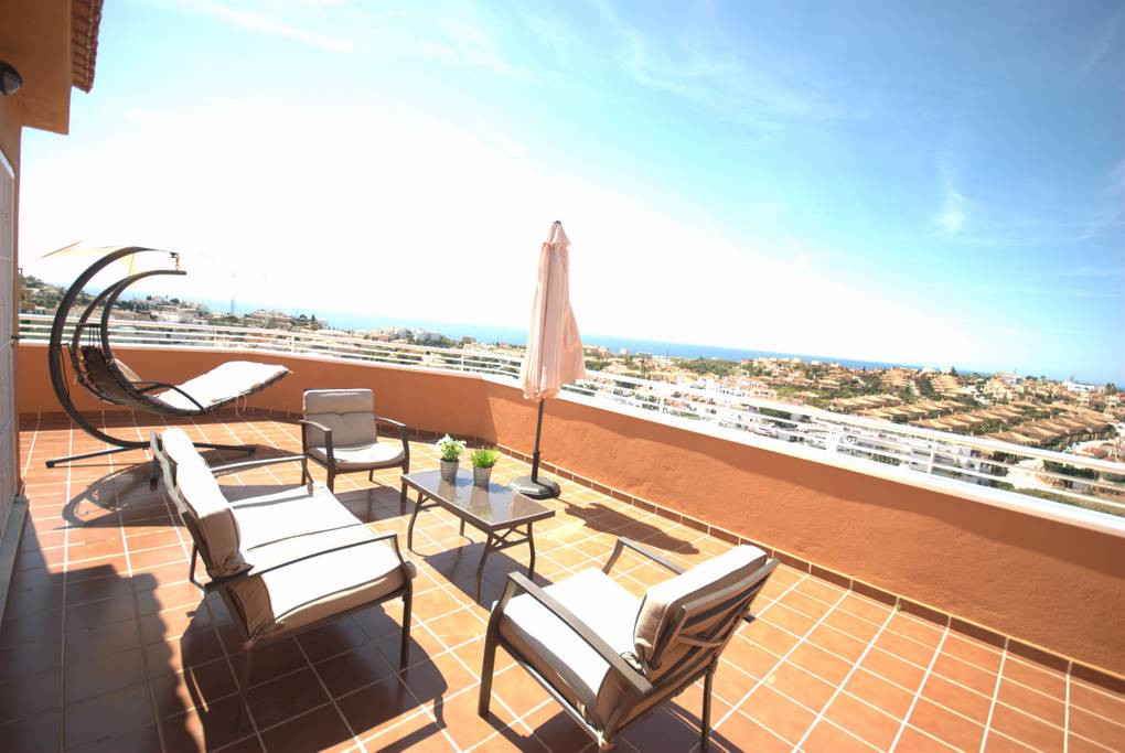 Private and quite Penthouse apartment with panoramic sea views from the 180 degree all day sunshine , Spain