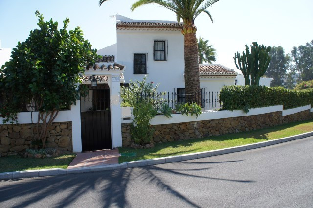 This single level Andalusian style villa is situated on the Golden Mile, close to a supermarketand, , Spain