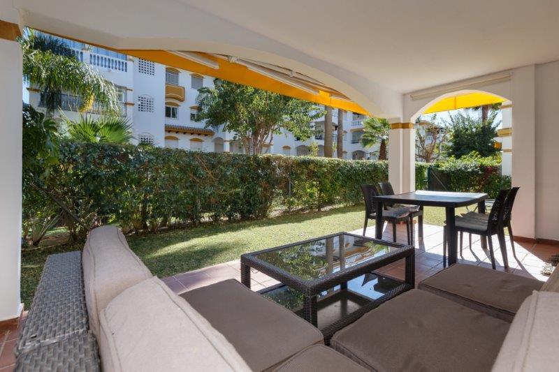 Ground floor apartment in Puerto Banus, situated in a prestigious gated complex, with security 24 ho, Spain