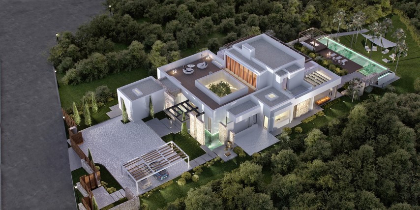 Stunning villa being constructed front line golf in the The Los Flamingos Golf Resort.  This fabulou,Spain