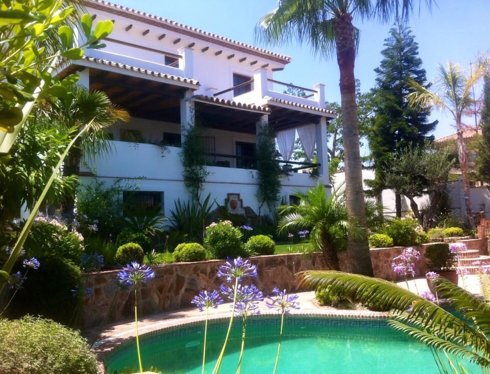 Beautiful detached villa, very tastefully designed featuring exposed wooden beams, traditional Spani,Spain