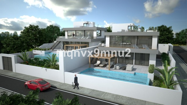 Amazing villa with plans for a new contemporary villa to be built. The plot is a large flat plot wit,Spain