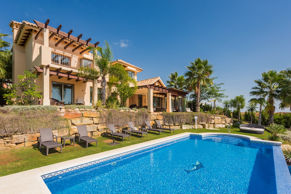 Superb detached villa on the new golden mile in Estepona, offering panoramic south facing views towa,Spain
