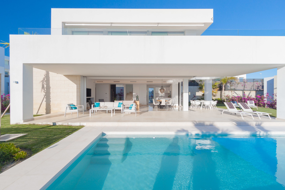 Luxury, modern four bedroom exclusive resale villa located within a sold-out villa development in Ea, Spain