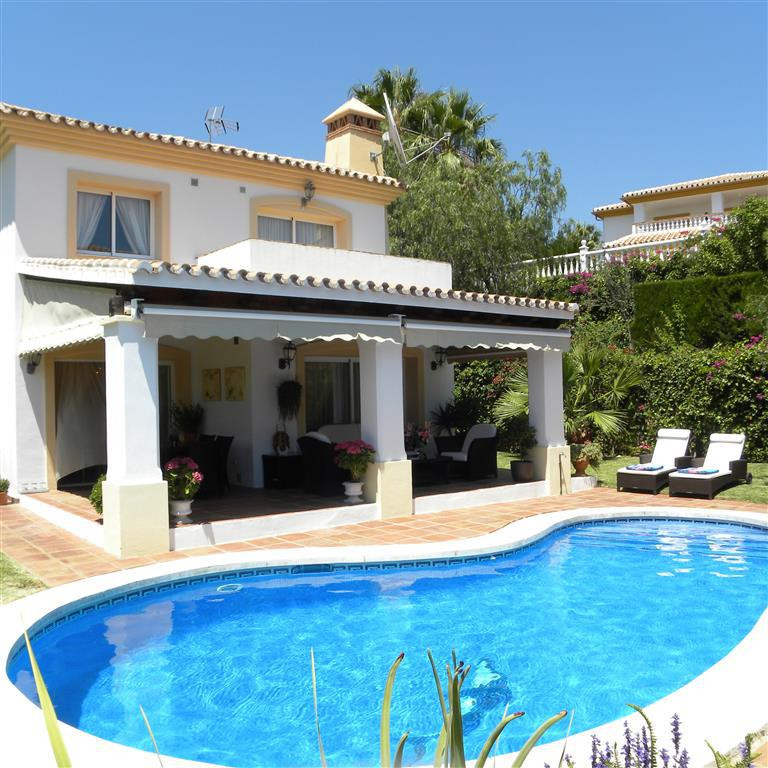 An absolutely divine classic detached villa in an immaculate condition in a very quiet residential a,Spain