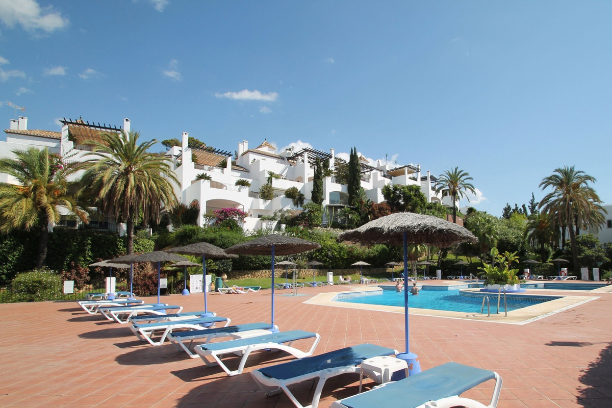 Peaceful west facing two bedroom ground floor apartment with a lovely private garden in the gated co, Spain