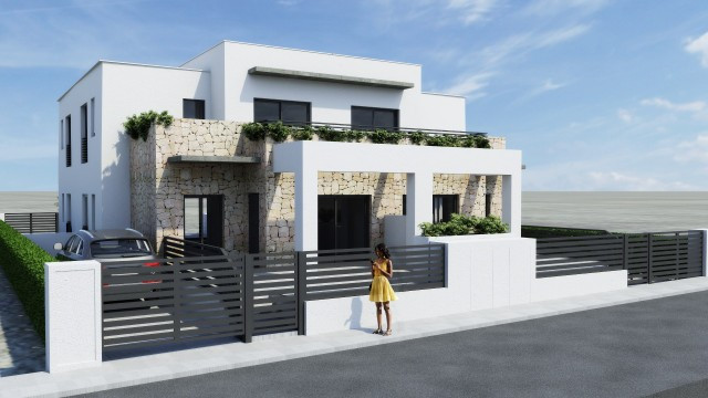 This unique mediterranean style complex consist of ground and top floor apartaments, located in a qu,Spain