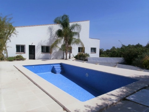 Spacious Country house with panoramic views across the  Mediterranean and the Sierra Nevada. All day, Spain