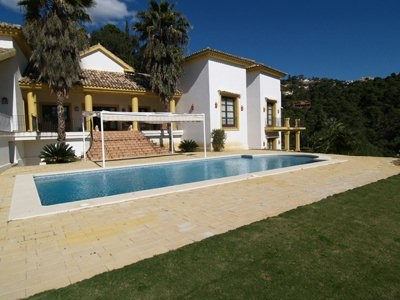 In La Zagaleta, rustic style house with South facing with sea views and overlooking the valley on a ,Spain