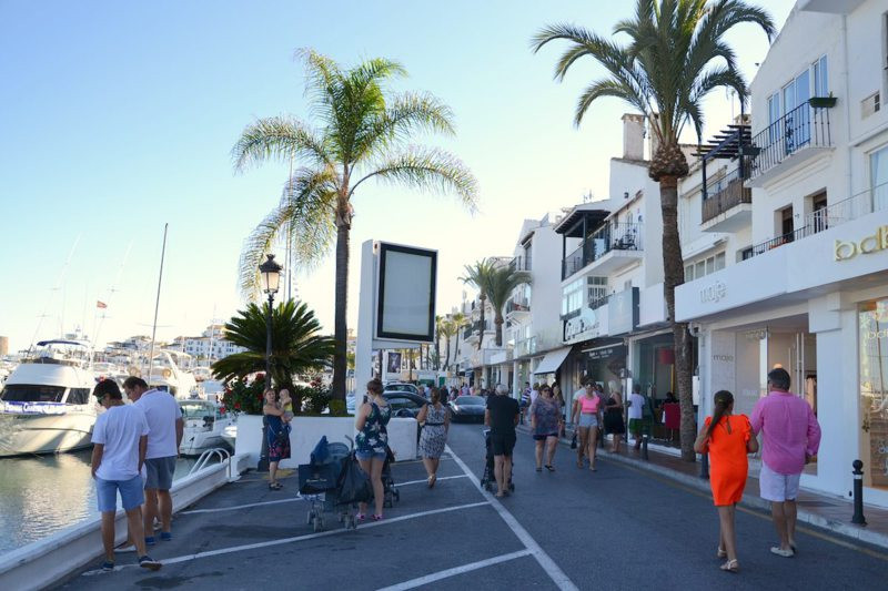 Exceptionally well situated local in the first line of Puerto Jose Banus built by Jose Banus, a loca,Spain