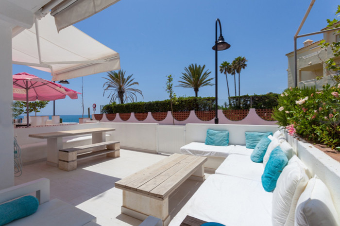 Beautiful renovated beachfront townhouse in the popular town of La Cala de Mijas. Located just a few,Spain