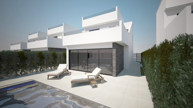 Stunning detached villas just 400 metres from the beach in Lo Pagan. These fantastic properties of m, Spain