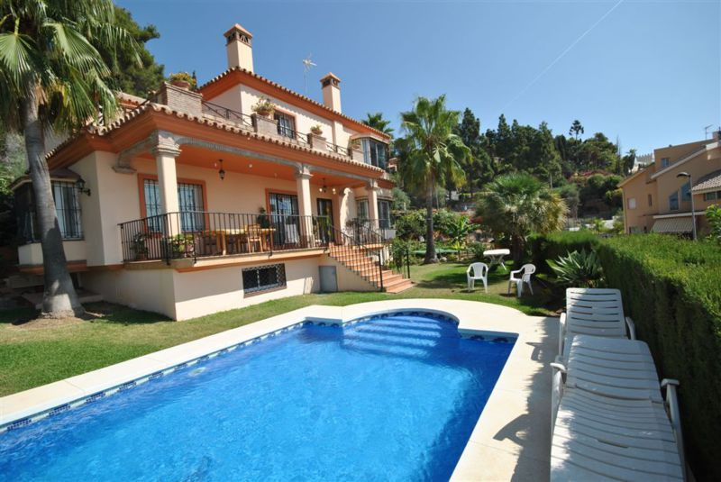 Well appointed villa located in a residential area in the upper part of Marbella with breathtaking v,Spain