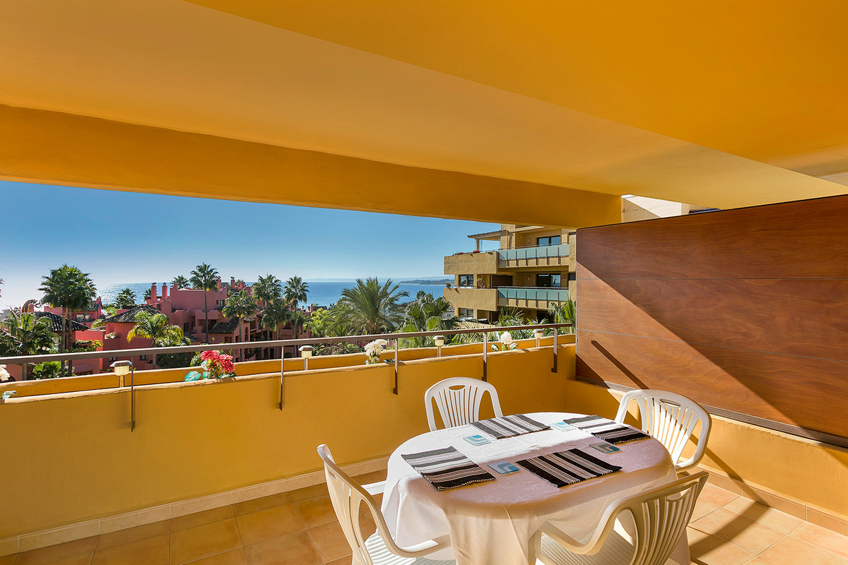 This fantastic beachside, south-west facing apartment with stunning direct sea views and views of th, Spain