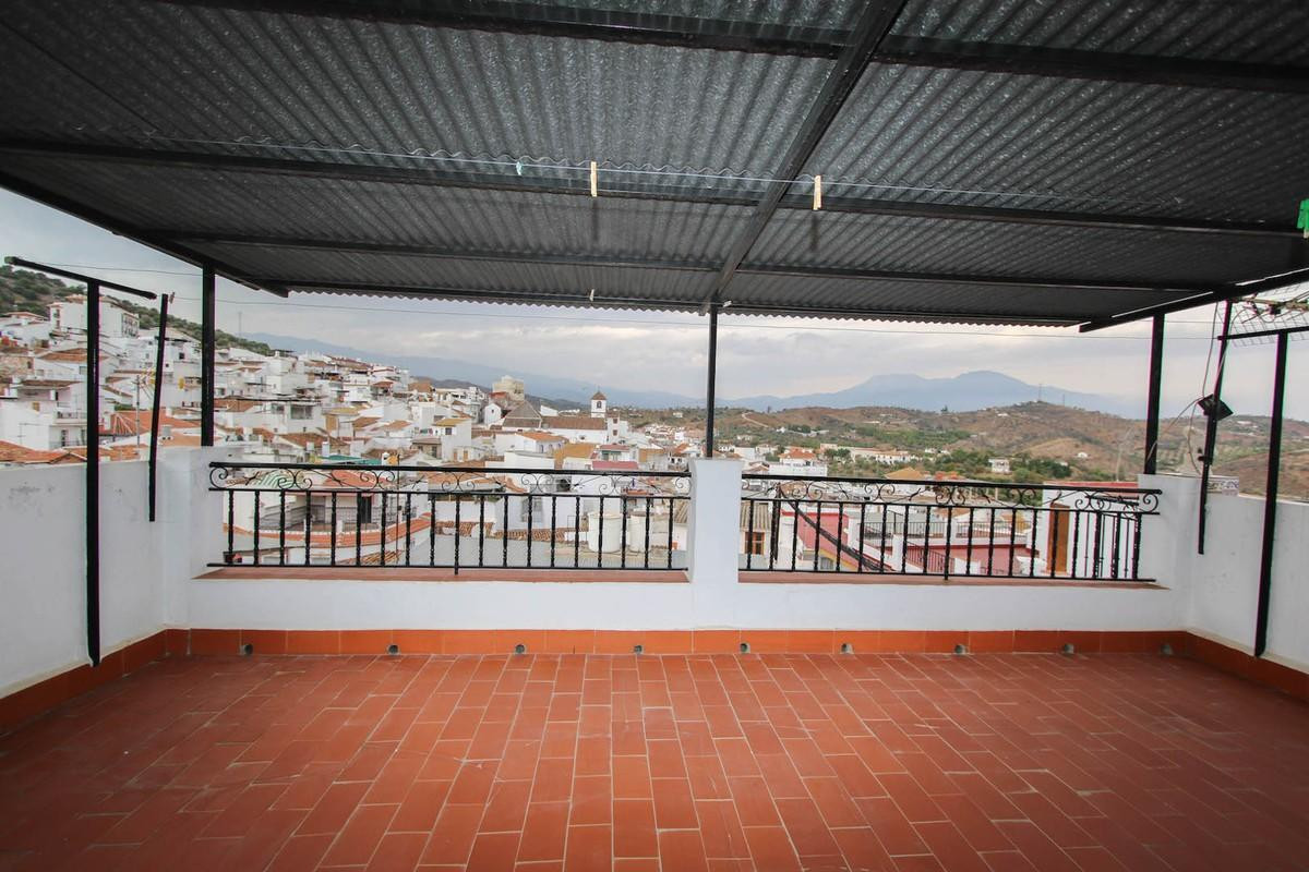 A true Andalusian townhouse at the edge of a true Andalusian village.  In Andalusia, the facade rema, Spain