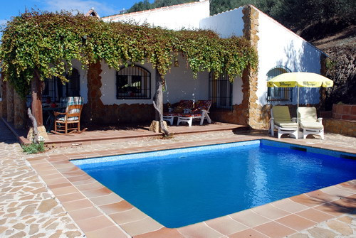 Beautiful rustic land villa with sea and mountains views, fireplace, furnished, ff kitchen, A/C, dou,Spain