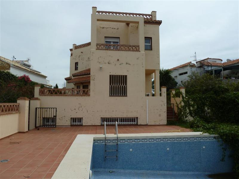Property located in El Faro, Mijas Costa, Malaga. Spacious detached distributed over four floors inc, Spain