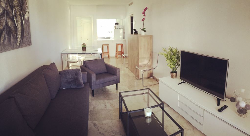 Lovely two bedroom apartment. Street floor although on the third floor: so from the spacious terrass,Spain