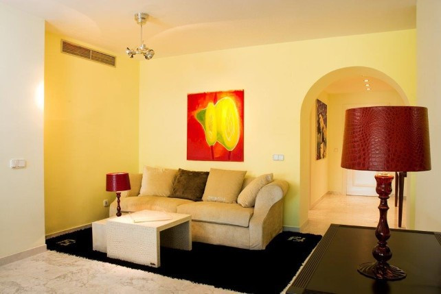 Beautiful apartment in Puerto Banus, first row from the beach with direct access to the beach, close, Spain