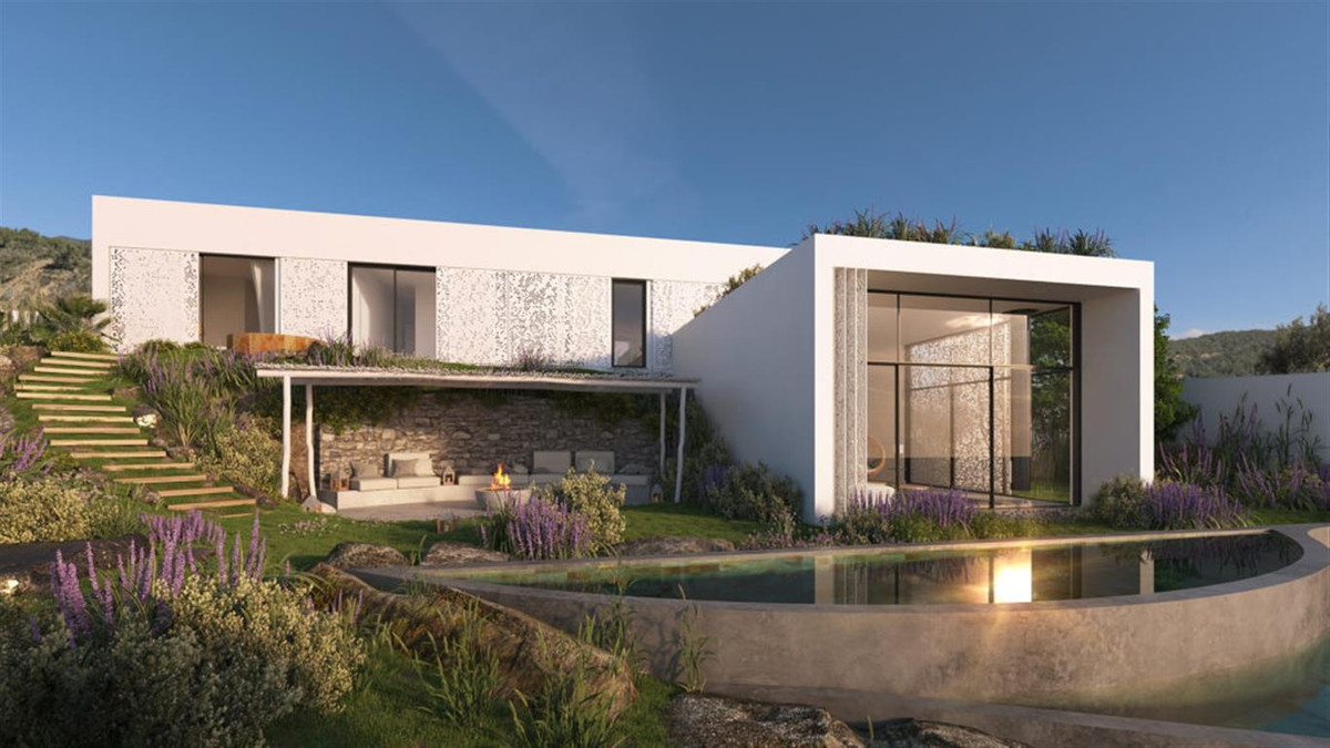 Beautifull modern house with panoramic sea views and developed area by contemporary design villas in,Spain