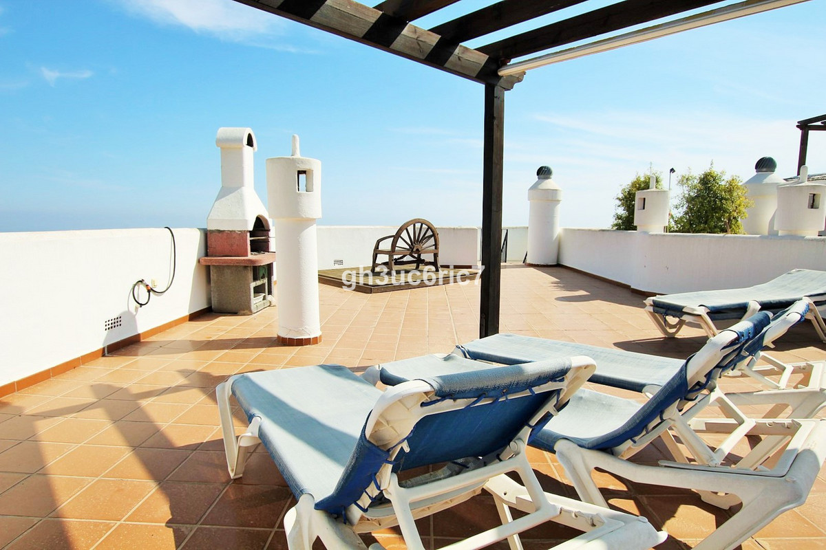 Bright and spacious corner duplex penthouse with panoramic sea views . Large living room with fire p,Spain