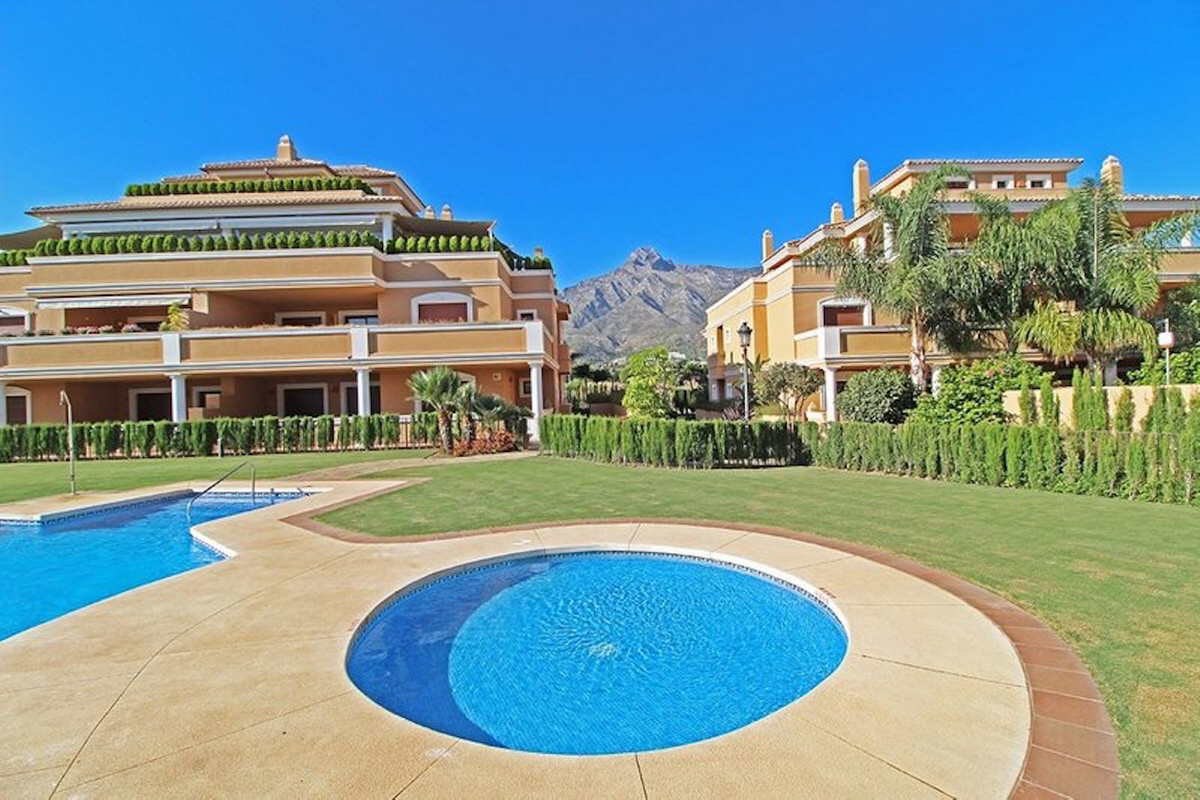 Duplex Penthouse is located in prestigious area of Marbella Golden Mile. The complex has gated commu, Spain