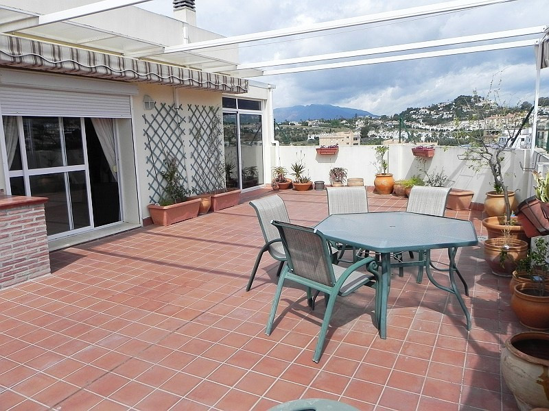 This is an amazing penthouse with 3 double bedrooms, large wrap around terrace of 100 m2 and wonderf, Spain