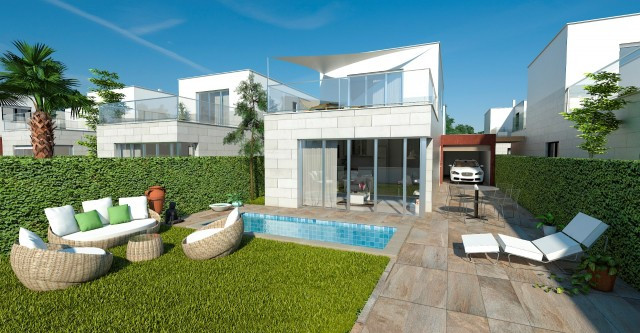 These spectacular villas are located in Los Alcazares, Mar Menor.  Cleverly distributed, they consis,Spain