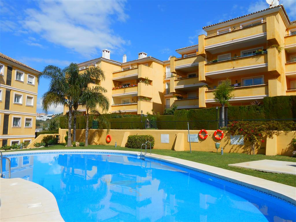 This is an elevated garden apartment, in Flamingo Golf Park, Riviera del Sol. The private garden of ,Spain