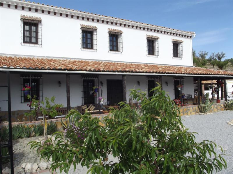 Lovely completely refurbished andalusien farm house on a big plot of land, almost flat and fenced, l, Spain