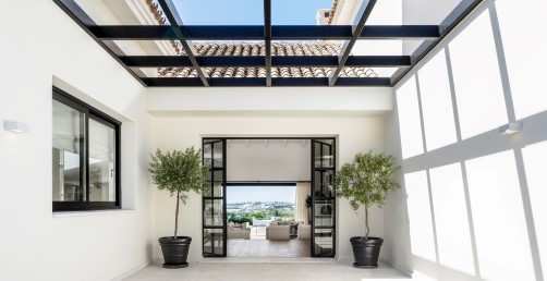 Marbella Nueva Andalucia. Phantastic modern style reformed Villa in the area of Lomas de Colorado. B, Spain