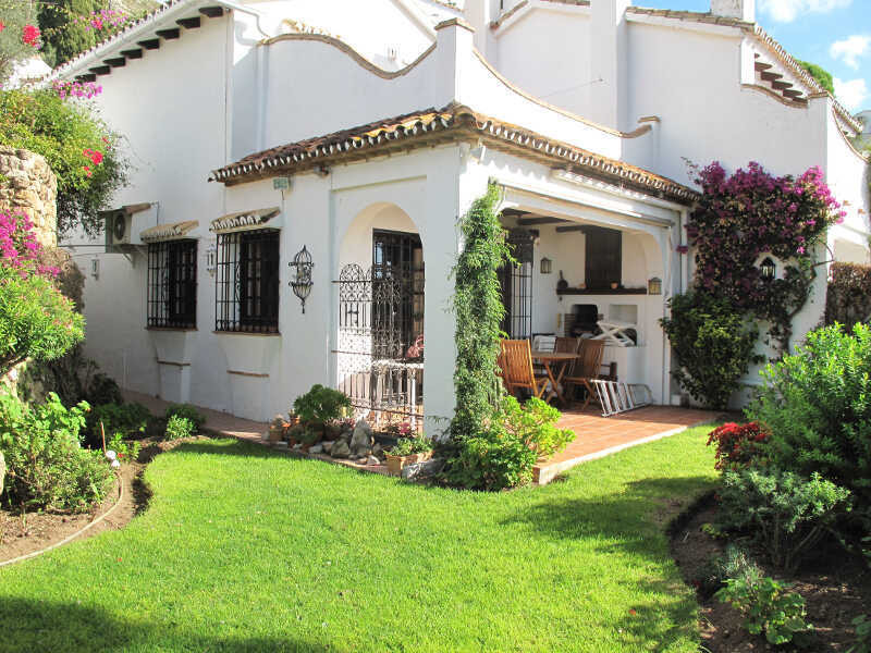 Three bedroom rustic style semi detached house located in the popular urbanisation of Mijas La Nueva, Spain