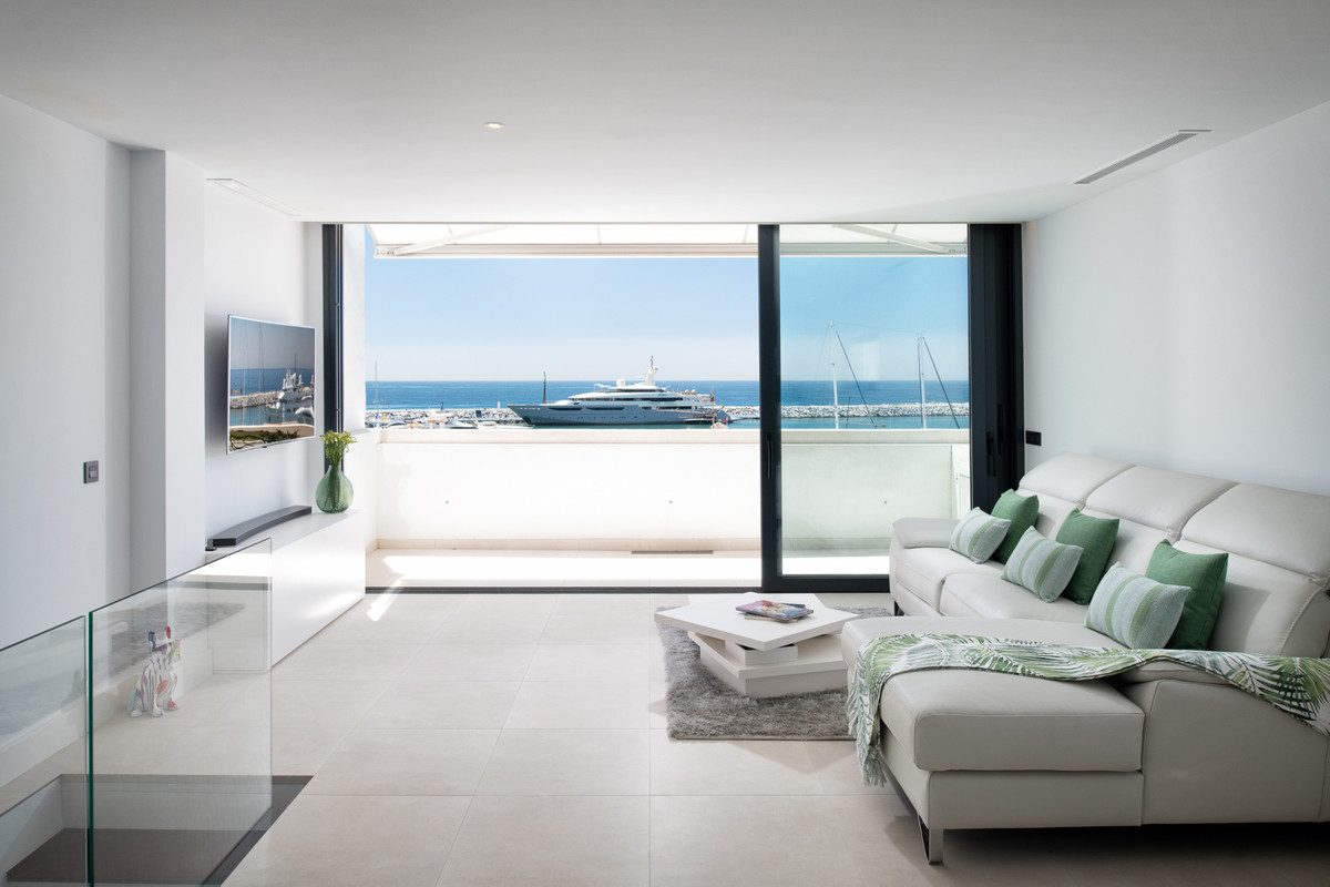 Unique, totally refurbished, high end contemporary duplex penthouse in the heart of Puerto Banus wit, Spain