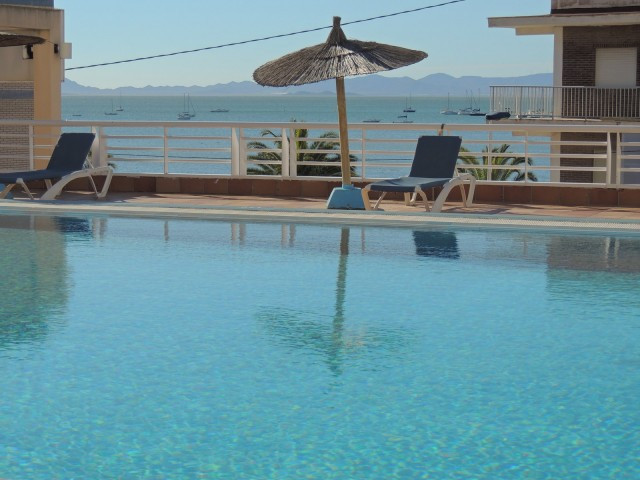 A wonderful apartment with the best views of El Mar Menor. It is situated in front of the beach in L, Spain