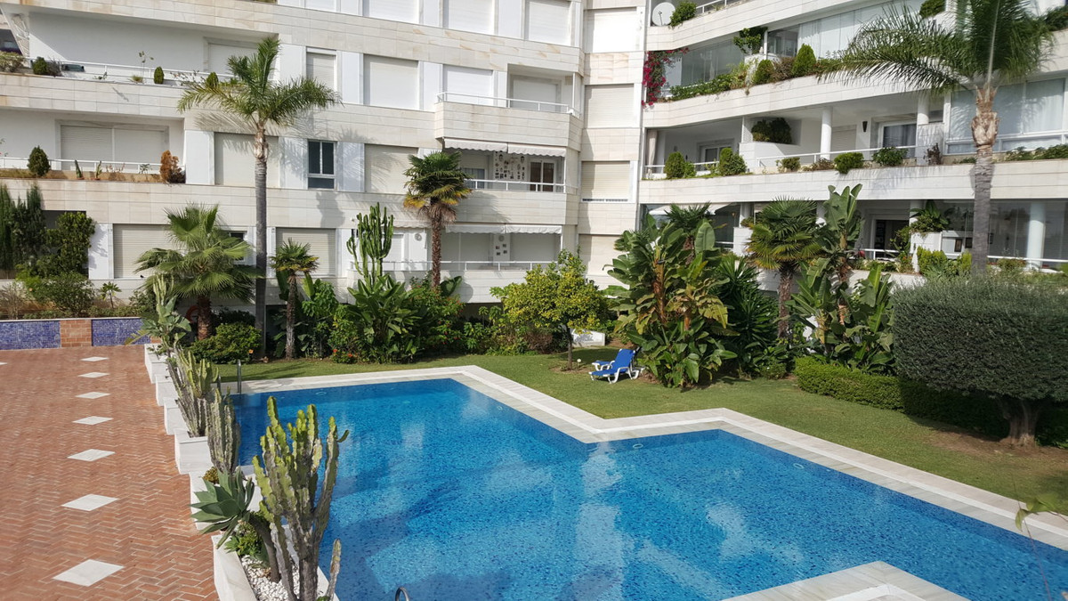 First line beach apartment in Marbella center with views of the sea and the beach. Walking distance , Spain