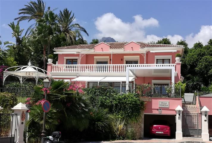 NAGUELES - MARBELLA Luxury Villa with a Designer Interior.  Sea Views.  Decked Terrace with Dining a,Spain